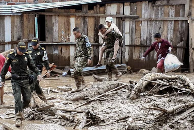 Colombie : au moins huit morts et 20 disparus après de fortes pluies