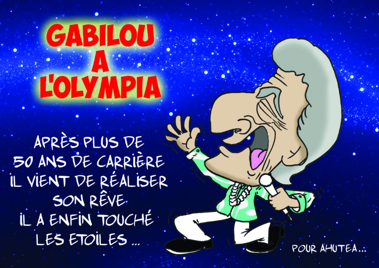 """"""" Gabilou à l'Olympia """" par Munoz"""