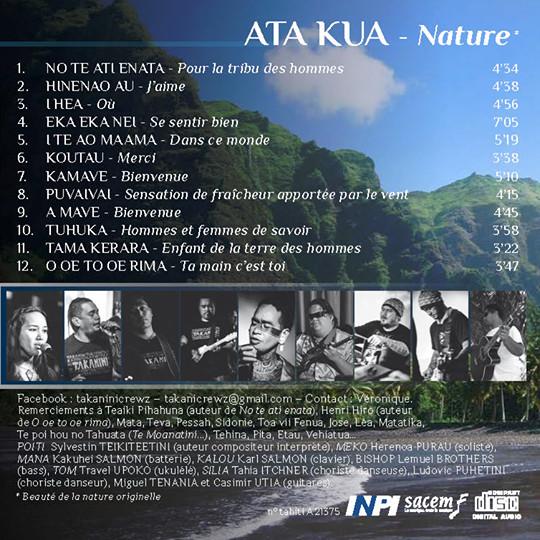 Ata kua, le nouvel album de Takanini