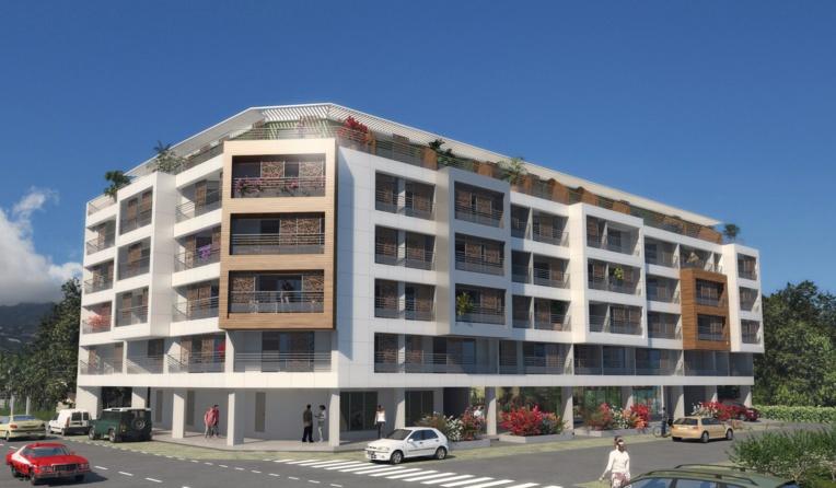 Le projet envisage 50 appartements de type T1 et de 14 T2 équipés d'une cuisine. Tous les logements comprendront des terrasses de 6 à 36 m2 de surface.