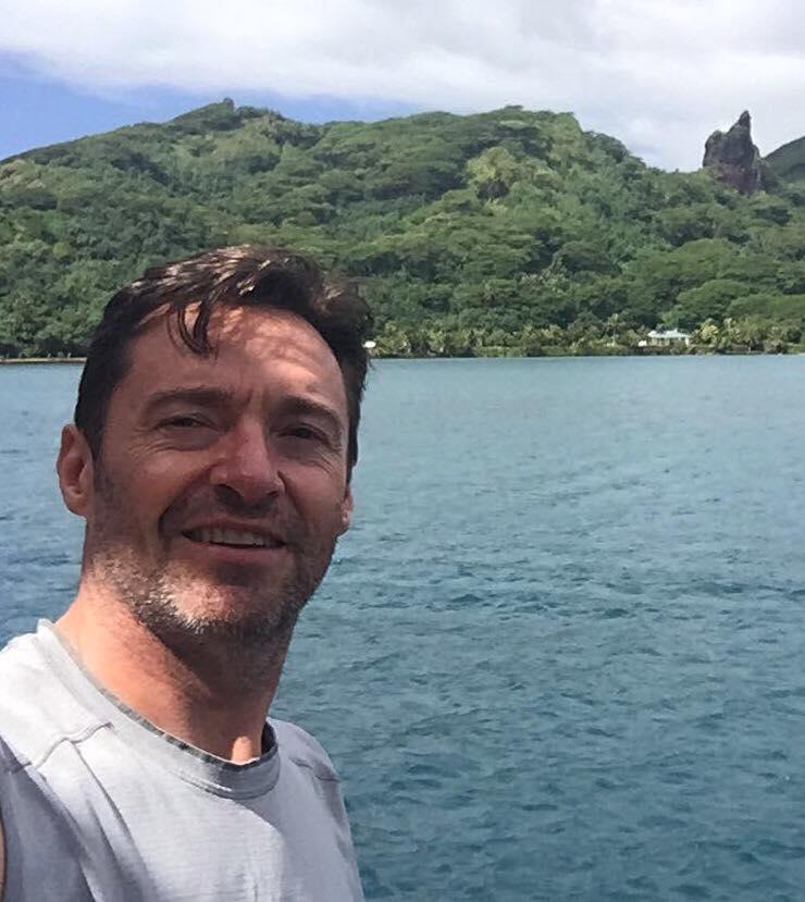 Hugh Jackman (Wolverine) en vacances au fenua