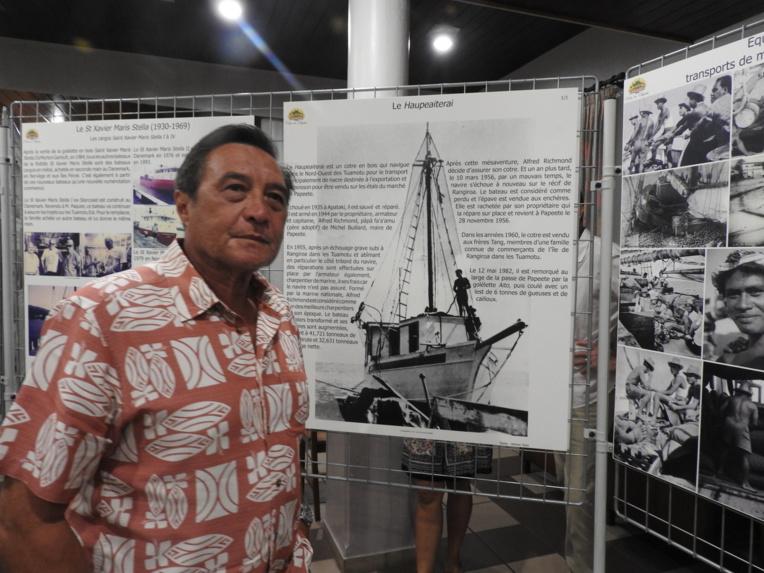 """Le Haupeaiterai (""""La paix dans le ciel"""") a appartenu au père de Michel Buillard, charpentier de marine."""