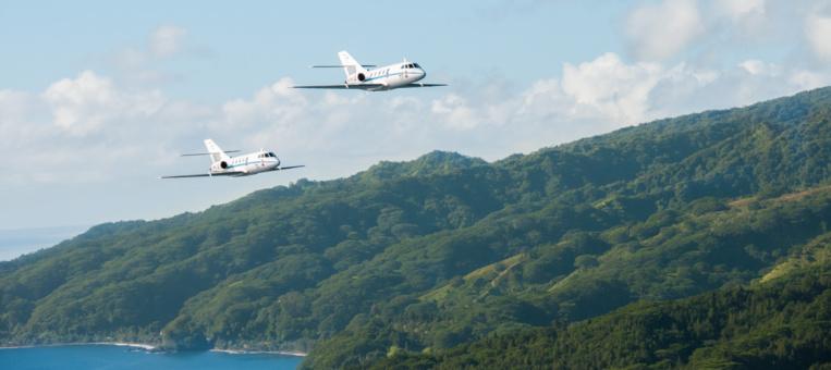 Le 4 mai, un Falcon 200 Gardian de la Marine nationale décollera donc de Tahiti, chargé de bulletins de vote à l'attention de quelque 500 électeurs, pour une mission de six à sept heures. Photo : J.Bellenand©Marine Nationale