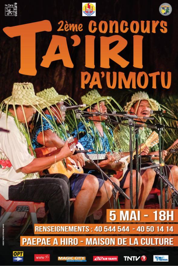 """Concours Ta'iri Pa'umotu: les guitares vont """"pleurer"""" le 5 mai"""