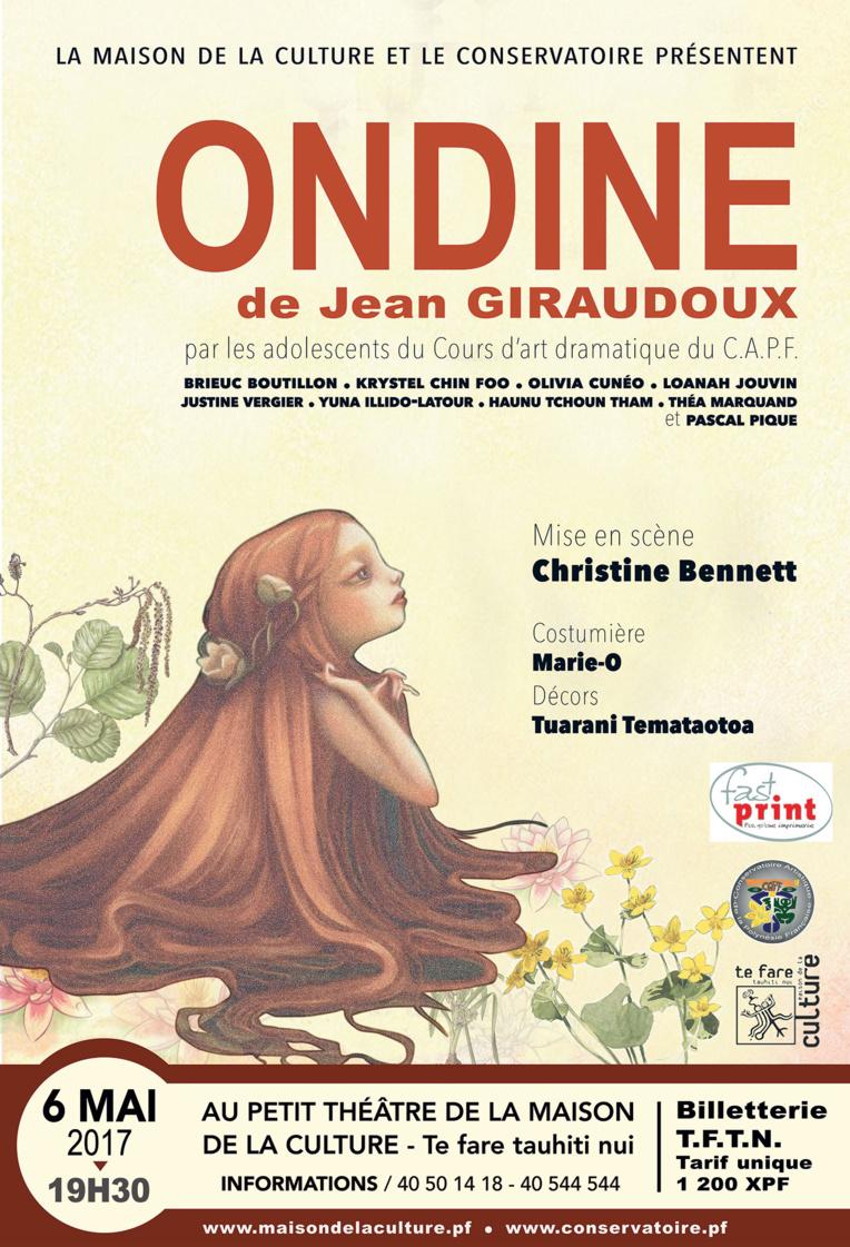 """Théâtre : les ados du Conservatoire jouent """"Ondine"""", ou l'histoire d'un amour impossible"""