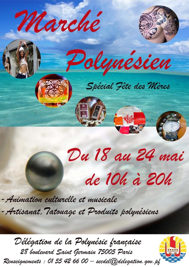 Un Marché polynésien à la Délégation de la Polynésie française à Paris