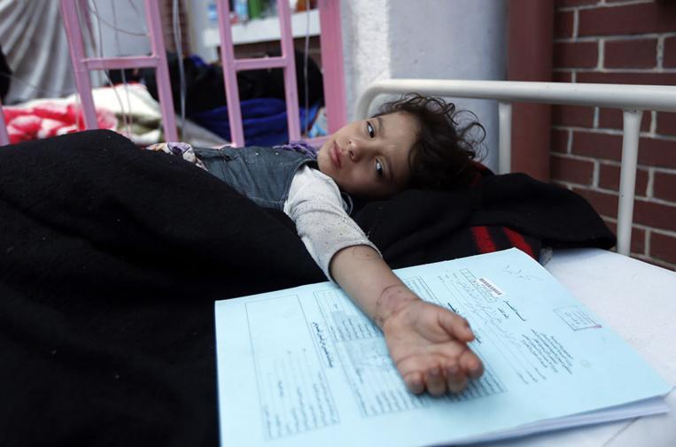 Des centaines de cas suspects de choléra recensés au Yémen