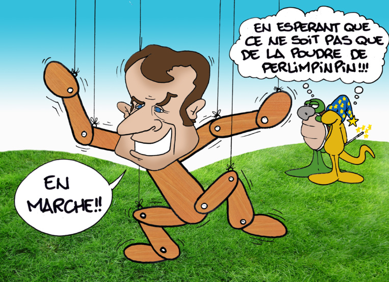 """"""" L'élection de Macron """" vu par Munoz"""