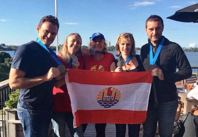 Squash – World Master Games : Tahiti, championne du monde par équipe