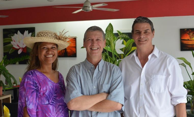 Véronique Mai, Frédéric Bichon et Jean-Louis Dupuits, trois des membres fondateurs de Taravao2020