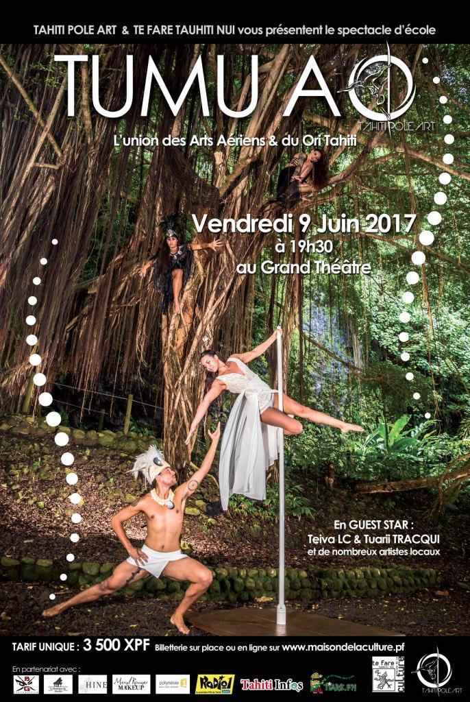 """""""Tumu-Ao"""", un spectacle aérien qui marie 'ori tahiti et pole dance"""