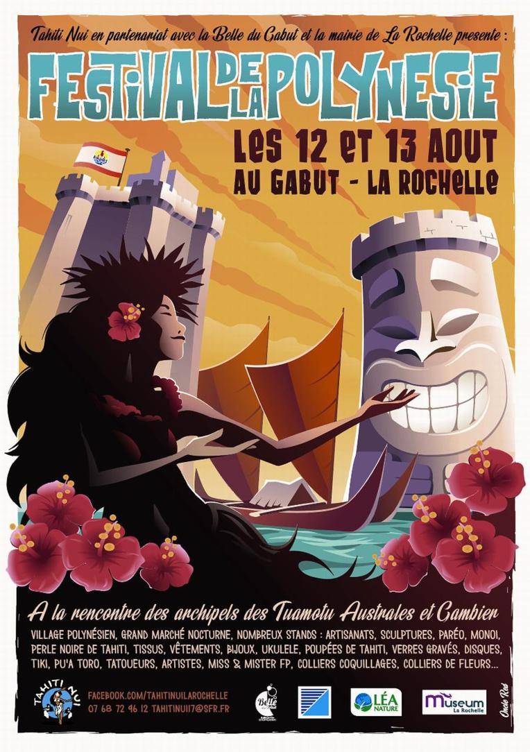 Festival de la Polynésie à La Rochelle, une affiche originale