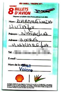 Jeu Shell Pacific: Une première gagnante à Moorea remporte deux billets d'avion pour Los Angeles