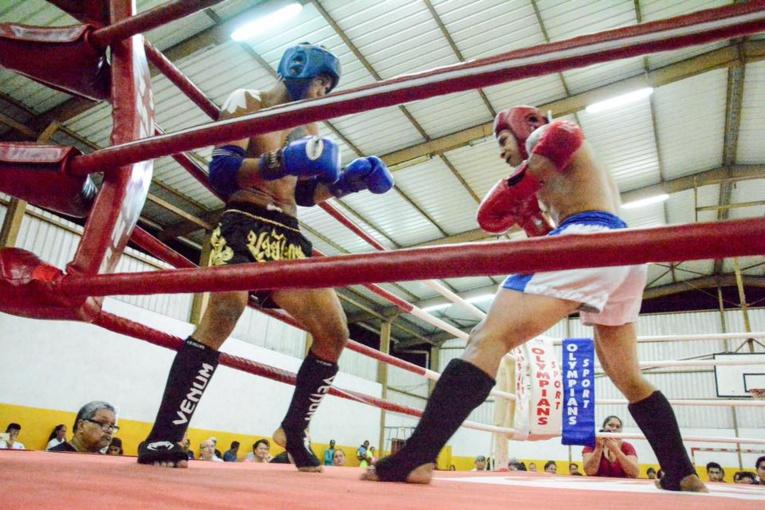 Une soirée boxe thaï a été proposée à Taravao