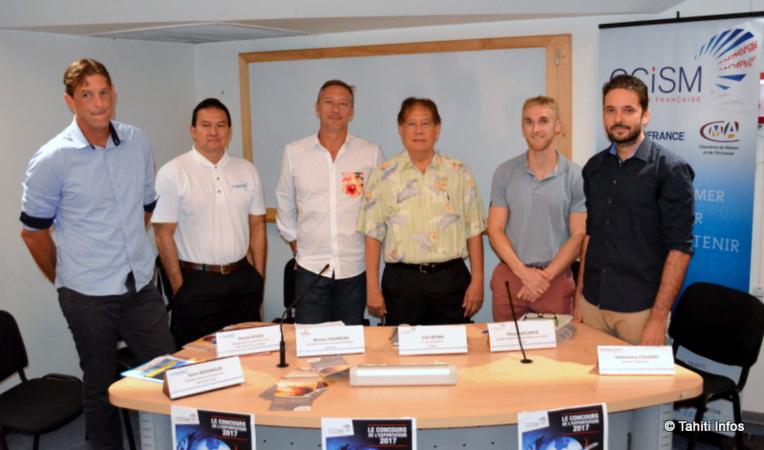 Les organisateurs du Concours de l'exportateur : la CCISM, la Sofidep, ATN, Web Sights  et la DGAE (absente de la photo)