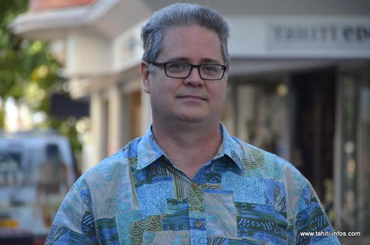 Heimana Garbet, président du mouvement En Marche Polynésie.