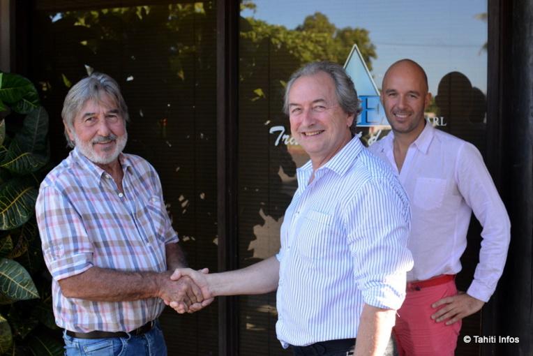 Richard Danglot, fondateur d'Océa, Loïc Darcel qui rachète l'entreprise, et Jimmy Thillaye qui va désormais la gérer. L'histoire d'une transmission en douceur.