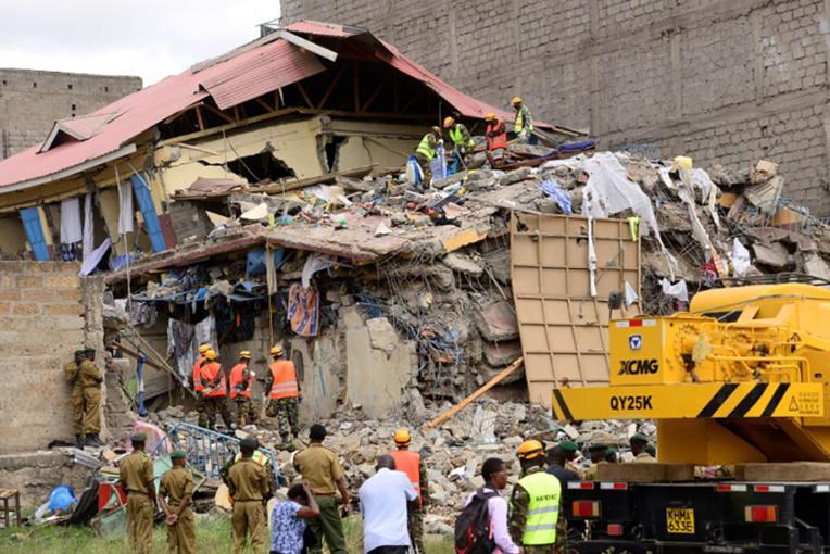Kenya: au moins 4 disparus dans l'effondrement d'un immeuble