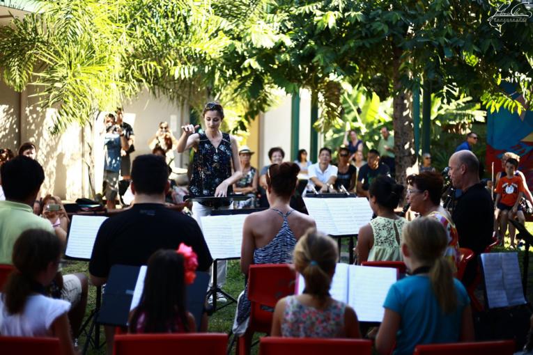 Samedi dans les jardins du Conservatoire artistique de Polynésie française ( Ludovic Chan pour le Conservatoire).
