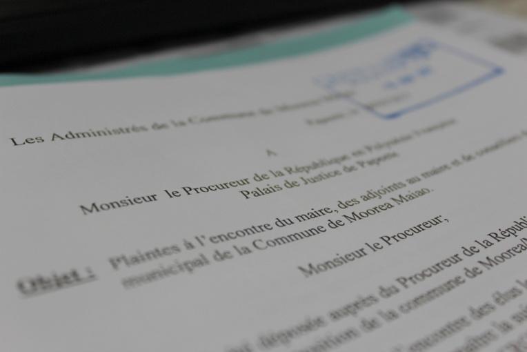 Le courrier est arrivé au palais de justice de Papeete le 16 juin.