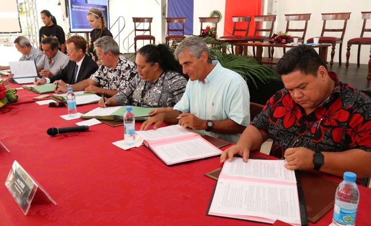 Pays, Etat et communes signent une convention-cadre pour la rénovation urbaine de l'agglomération de Papeete