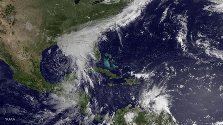 La tempête tropicale Cindy s'approche des Etats-Unis