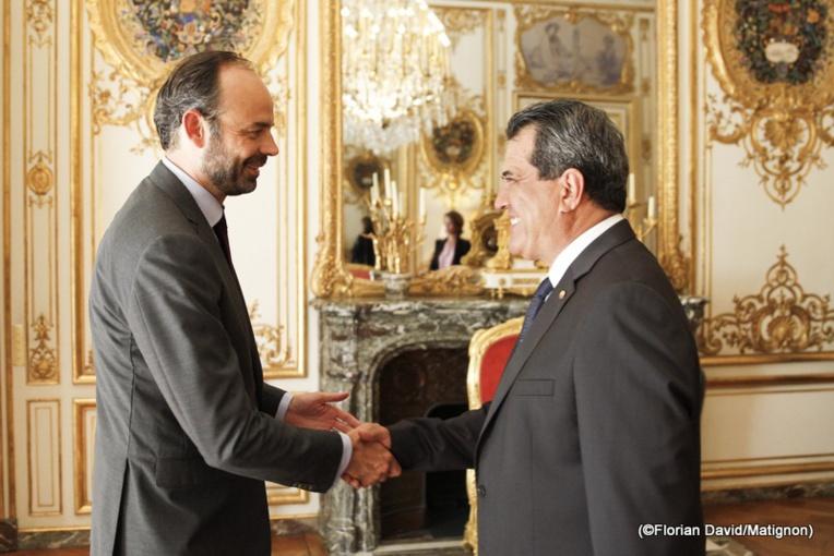 Le président Fritch s'est entretenu avec le Premier ministre Edouard Philippe, jeudi à l'hôtel Matignon.