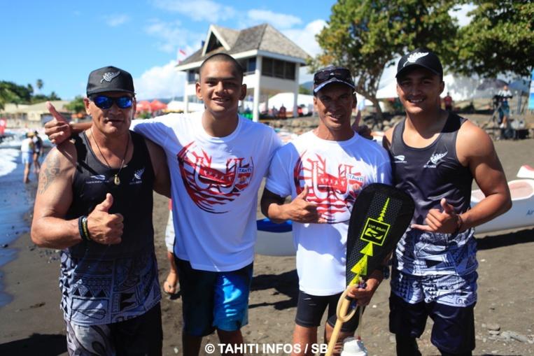L'émotion était palpable à l'arrivée de la course (Tahiti & Nouvelle Zélande)