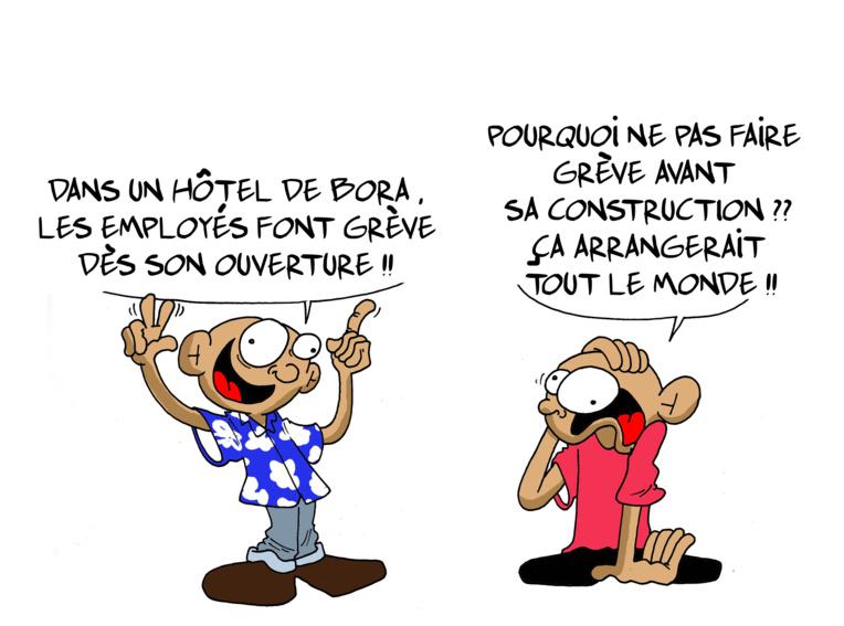 """"""" Grève au Conrad """" vu par Munoz"""