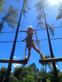 Le parcours d'accrobranche est accessible dès 3 ans au Tiki Parc Moorea.