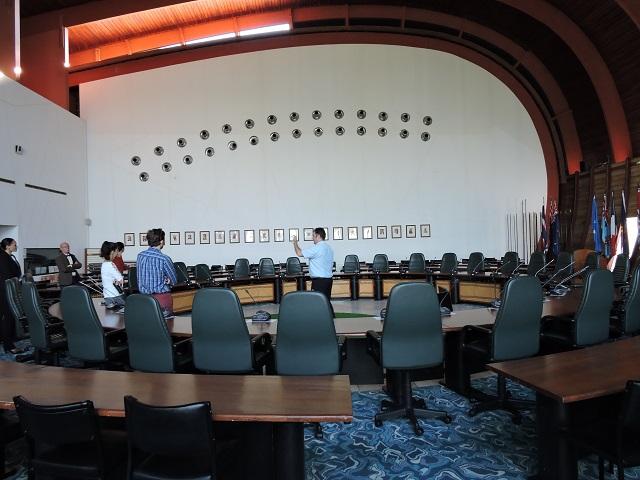 La salle de conférence où les Pays membres de retrouvent.