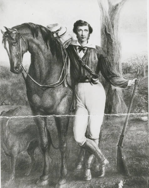 Le portrait de l'intrépide John Horrocks au départ de l'expédition qui lui fut fatale.