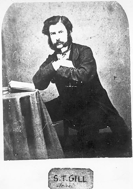 Samuel Tomas Gill, qui signait STG, fut le peintre officiel, volontaire et bénévole de la tragique expédition.