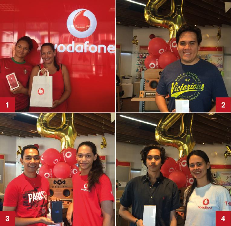 Grand jeu anniversaire des 4 ans de Vodafone : des gagnants qui ont le smile !