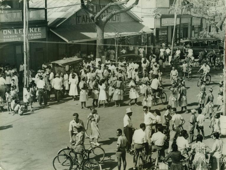 Fête du Tiurai dans les années 50. La tradition remonte à 1881 !