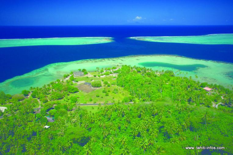 Vue aérienne du site de Taputapuatea (Photo Matarai)