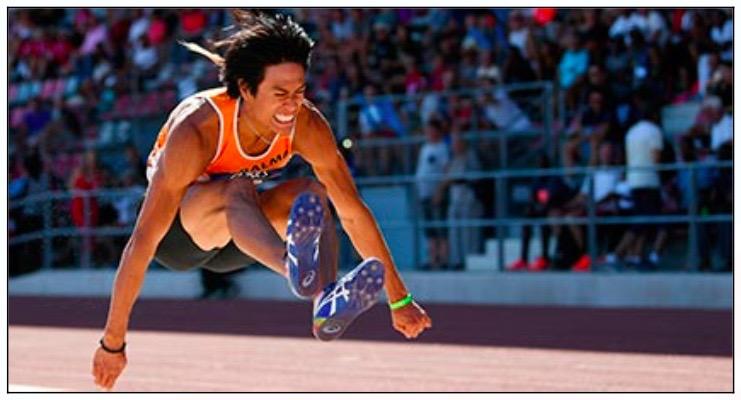 Le Toulousain Raihau Maiau nouveau champion de France de saut en longueur