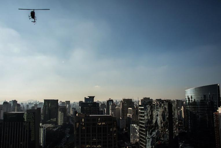 Brésil: l'hélicoptère, la solution antibouchons à Sao Paulo