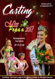 Miss popa'a revient, le casting est ouvert