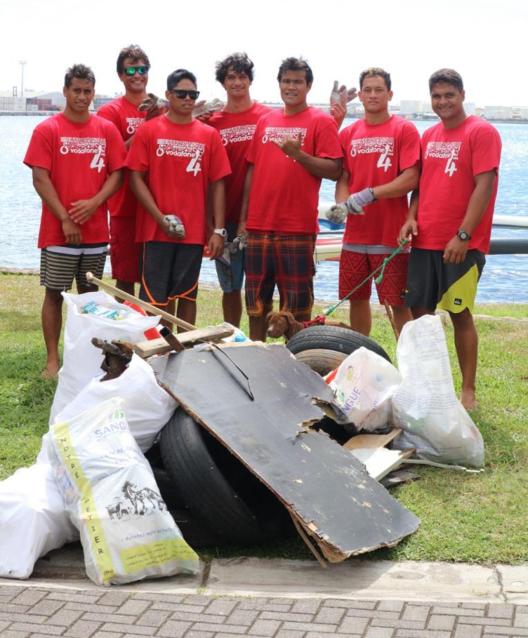 Moea Pereyre a été impressionnée par le travail abattu par les champions de Shell Va'a tout au long de la journée.