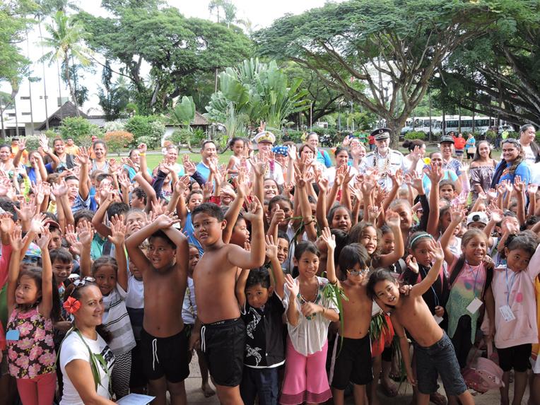 Le temps d'une journée, jeudi, les 400 enfants ont pu profiter des animations organisées par l'association.