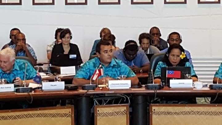 Teva Rohfritsch représente le Pays à la 10e conférence de la Communauté du Pacifique