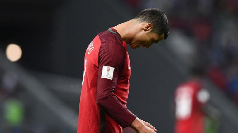 Le joueur portuguais Cristiano Ronaldo, lors de la demi-finale de Coupe des Confédérations entre le Portugal et le Chili à Kazan (Russie), le 28 juin 2017 afp.com/FRANCK FIFE