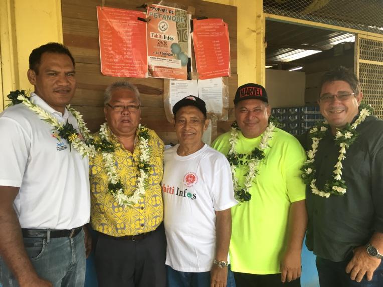 Tauhiti Nena, Luc Faatau, Georges Tokoragi, Putai Taae ou encore Alain Barbaroux étaient présents à l'inauguration
