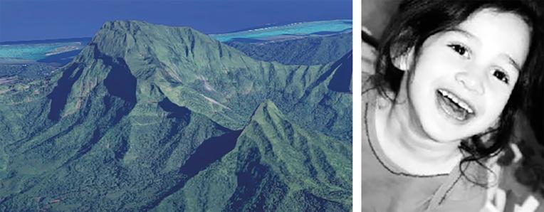 Le 22 août, les membres de l'association porteront la petite Tehani au sommet du Mont Temehani, à Raiatea.