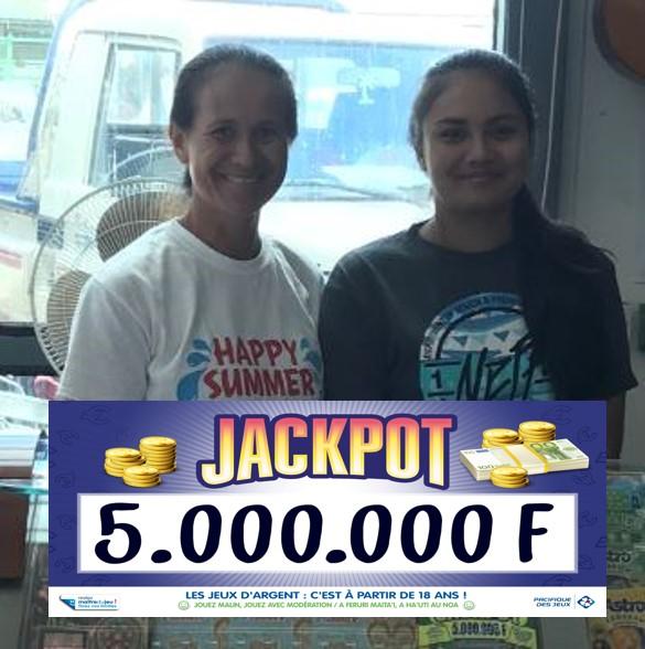"""Le """"Jackpot"""" pour une heureuse mamie de Bora Bora"""