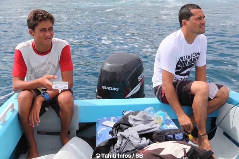 Matahi et Manoa Drollet lors des Trials 2014