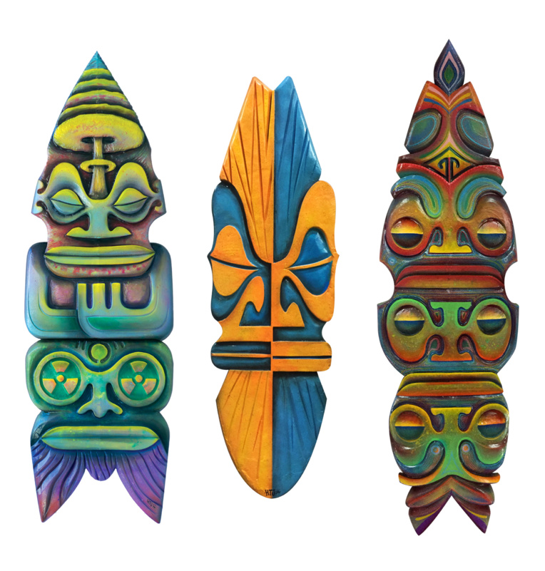 """Les planches de surf sculptées de HTJ sont devenues sa """"marque de fabrique""""."""