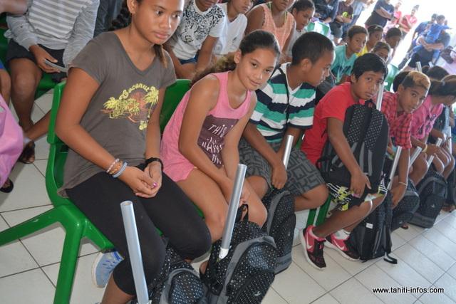 Les enfants ont été sélectionnés par le service social de la mairie.