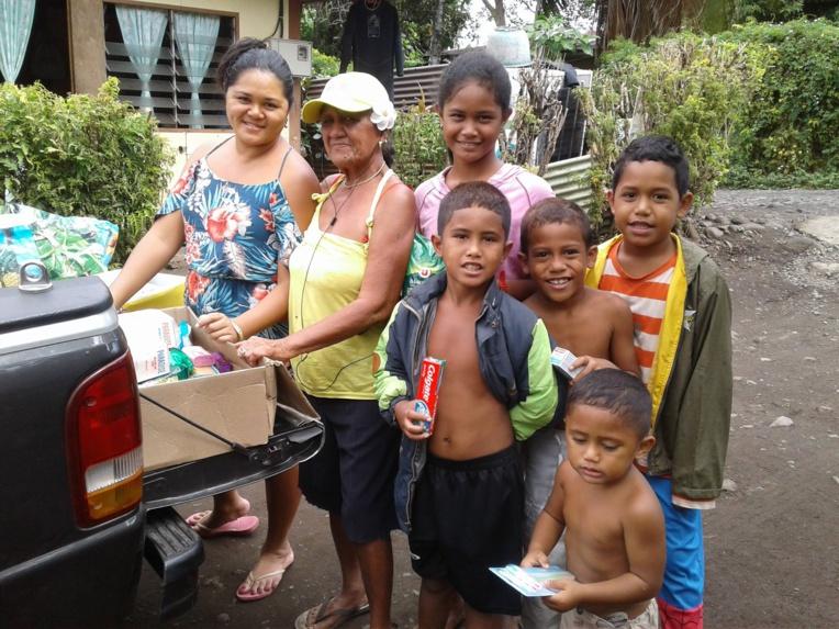 Veuve, Edna Taraufau vit avec ses enfants et ses petits-enfants à Tiamao.